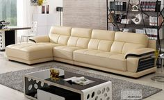 cream leather sectional sleeper sofa with chaise