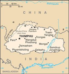 Bhutan - Wikipedia A map of Bhutan showing its borders with Tibet and India as of Country Information, Nepal Kathmandu, Arunachal Pradesh, India Tour, Beautiful Places To Visit, Tibet, Maldives, Geography, Viajes