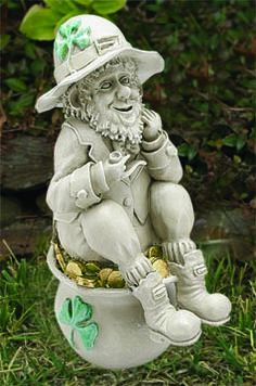 Get Your Yard Into The Season: Instead Of Gnomes Go With Leprechauns Http:/