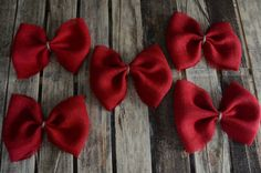 Red burlap Christmas bows. Perfect Christmas decor. Rustic Christmas. Red Bows. Burlap Christmas. Holiday decorations. Only on etsy :)