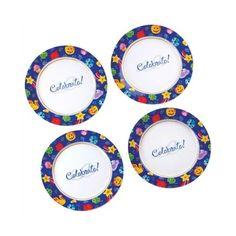 Celebrate! Set-4 Dessert Plate-FREE SHIPPING