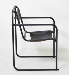 Bruno Pollak; Enameled Steel and Leather 'RP-7' Chair for PEL, 1932.