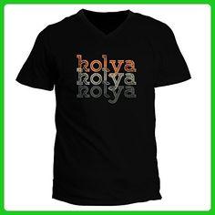 Idakoos - Kolya repeat retro - Male Names - V-Neck T-Shirt - Retro shirts (*Amazon Partner-Link)