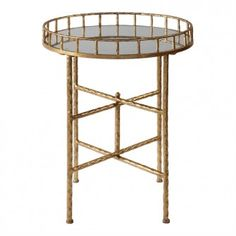 Shop this uttermost tilly bright gold leaf round accent table from our top selling Uttermost living room tables. LuxeDecor is your premier online showroom for living room furniture and high-end home decor. Gold Accent Table, Accent Tables, Gold Table, Mirrored End Table, Interior Design Gallery, Tray Styling, Mirror Tray, Home Living, Living Room