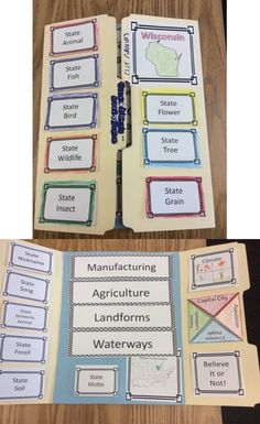 Created my own version of a Wisconsin Lap Book. #wihistory #4thgrade #statesymbols
