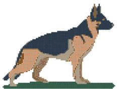 German Shepherd Miniature Cross Stitch Pattern and Tutorial Instant download by AmericanPooch on Etsy