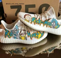 Rick and Morty yeezy shoes