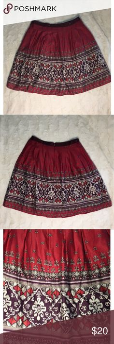 ✨Red High-Waisted Skirt✨ High-waisted skirt perfect for the holidays! Worn once. Skirts A-Line or Full
