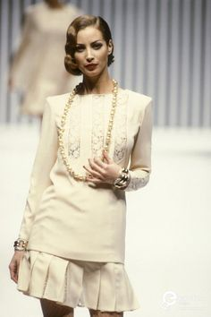 Image result for Christy Turlington - Valentino, Spring-Summer 1992, Couture