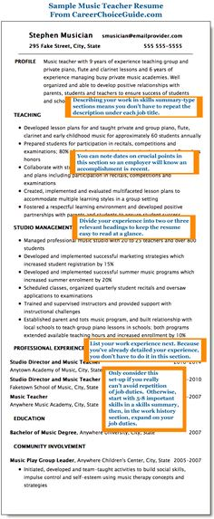 Manhattan Resume Company » Services Resume Headings Pinterest - music administration sample resume