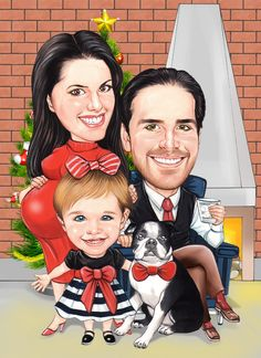 Custom Caricatures By  http://www.personalizedcaricature.com/