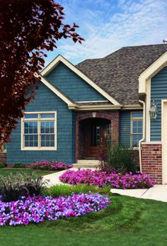 Painting Exterior Brick Fresh Exterior Excellent House with Painting Vinyl Siding with Vinyl Siding Colors, Exterior Paint Colors For House, Paint Colors For Home, Paint Colours, Blue Colors, Siding Colors For Houses, Navy House Exterior, Brown Brick Exterior, Outside House Paint Colors