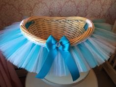 Frozen Inspired Tutu Basket Elsa Inspired Tutu by MissMadelynsBows