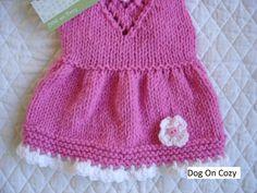 Rosa perro suéter mano de punto jersey para mascotas parte