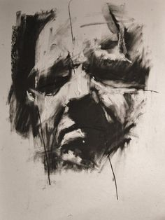 Face Drawing guy denning - a drawing a day Life Drawing, Drawing Sketches, Painting & Drawing, Art Drawings, Charcoal Portraits, Charcoal Art, Charcoal Drawings, Shadow Portraits, A Level Art