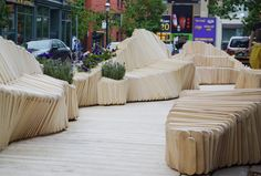 A Modular Wooden Bench Forms the Backbone of this Awesome Undulating Walkway,© Zeenah Mohammed Ali
