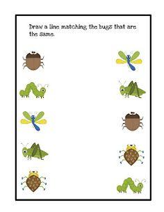 Preschool Printables: Bugs  @Leslie Wells