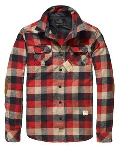 Scotch & Soda Long-Sleeved Checkered Shirt Jacket $90