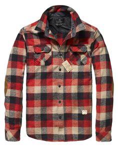 Scotch & Soda Long-Sleeved Checkered Shirt Jacket $90