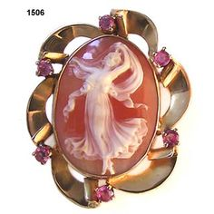 circa 1895 Diana Goddess of Youth, shell cameo.
