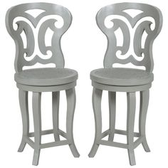 A beautifully carved back and a comfortable woven cane seat give the curved top counter stools ample appeal. Carved mahogany frames and comfortable upholstery complete the look. Shop Cottage style counter stools now. Woven Bar Stools, Metal Counter Stools, Mahogany Furniture, Furniture Decor, Painted Furniture, French Country Furniture, Shabby Chic Furniture, Tufted Ottoman, Cottage Chic