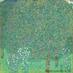 Gustav Klimt, Rose Bushes under the Trees, c. 1905, Musee d'Orsay