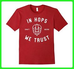 Mens Hops Brew Brewery Worker Tee Microbrewery Craft Beer T Shirt 2XL Cranberry - Food and drink shirts (*Amazon Partner-Link)