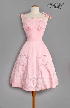 Sweet Vintage Pink Check Cotton Summer