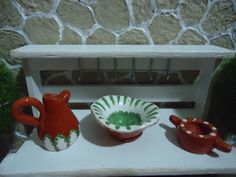 miniature pottery 112 scale3 PCS by MINISSU on Etsy, $5.99