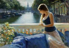 """Enjoying Amsterdam"", 92x65 cm, oil on canvas. September 2015 http://volegov.com/"