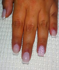 Knitted pink nails