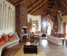 Shots from upscale safari lodge in south africa