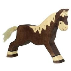 Wooden Horse Figurine Holztiger Children- A large selection of Toys and Hobbies on Smallable, the Family Concept Store - More than 600 brands. Bath Toys For Toddlers, Toddler Boy Toys, Toys For Boys, Wooden Horse, Wooden Animals, Baby Learning Toys, Best Baby Toys, Running Horses, Brown Horse