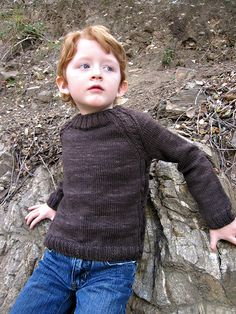 Soledad Sweater Pattern (Petite Purks), Free, Bottom-Up, Sizes:1 [2, 4, 6, 8, 10] Years, Shown in size 6