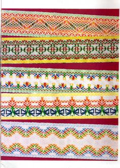 Revista AGULHA NA MÃO VAGONITE Nº 11 - Doris Farias - Álbuns da web do Picasa Swedish Weaving Patterns, Textile Patterns, Huck Towels, Swedish Embroidery, Monks Cloth, Weaving Designs, Darning, Needlepoint, Bohemian Rug