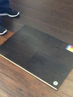 Dark hardwood floors for the upstairs bedrooms