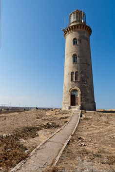 The lighthouse of Apsheronsk, one of the oldest lighthouses of the Caspian Sea,