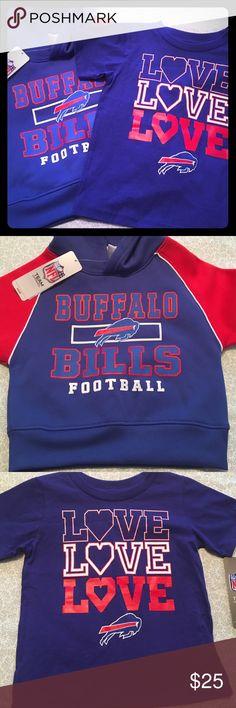 NWT NFL Buffalo Bills Tee & Hoodie Bundle Sz 3T🏈 Please feel free to ask questions... NFL Team Apparel Shirts & Tops