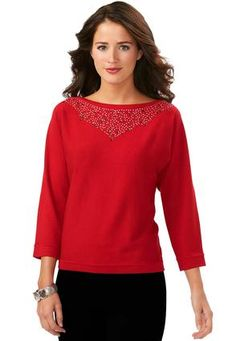 Cato Fashions Embellished Dolman Knit Sweater #CatoFashions