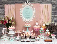 Baby Shower Candy Table   for a wedding bridal shower baby shower or birthday party