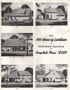 Early Levittown advertisement from 1951: Levittown NY ranch model only $8,500 including a teleivision
