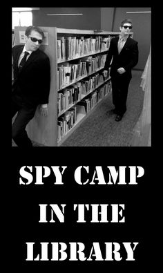 Everyone wants to be a spy, so Miss Gloria and I did a program a few years back where are kids could learn how to become a secret agent. It was a lot of fun and pretty low cost. We started by havi… Library Games, Teen Library, Library Book Displays, Library Events, Library Activities, Library Books, Library Ideas, Teen Activities, Library Organization