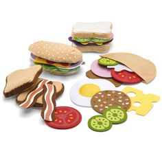 Felt Food Sandwich Set by Melissa & Doug Toys and Games