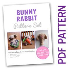 Amigurumi Crochet Woodland Bunny Rabbit PDF Pattern by HamAndEggs