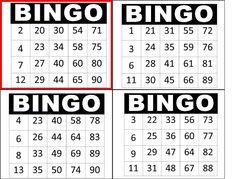 Printable Bingo Cards with Numbers   printable numbers 1 ...