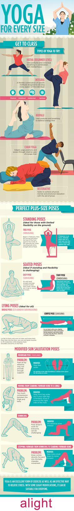 Yoga For Every Size: A Guide To Plus-Size Yoga  [by  Alight -- via #tipsographic]. More at tipsographic.com
