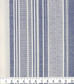 Striped Upholstery Fabric, Patchwork Fabric, Cotton Fabric, Blue And White Fabric, Blue Fabric, Curtain Patterns, Fabric Patterns, Sewing Patterns, Shed Decor