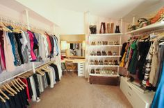 Blogger Domestic Jenny's dressing room #closet #dressing_room #kitty #organization #vanity