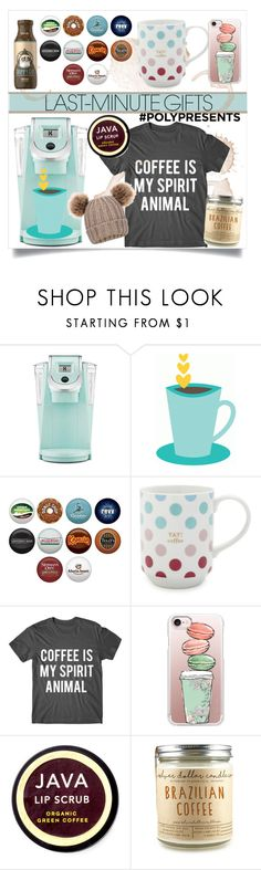 """""""#PolyPresents: Last-Minute Gifts"""" by ifancyu ❤ liked on Polyvore featuring Keurig, Sur La Table, Casetify, Java, contestentry, mocha, java, polyPresents and coffeetheme"""