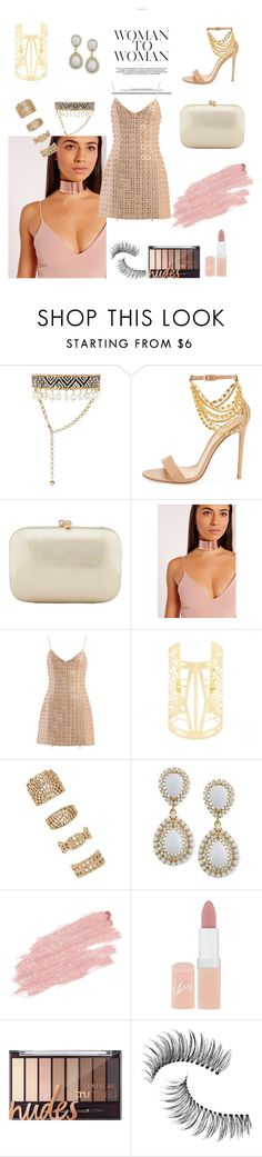 """""""Untitled #314"""" by itsafagh ❤ liked on Polyvore featuring Shourouk, Gianvito Rossi, Serpui, Missguided, David Koma, Forever 21, Jane Iredale, Rimmel and Trish McEvoy"""